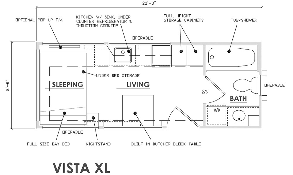 Vista XL Floor Plan - Vista by Escape Traveler