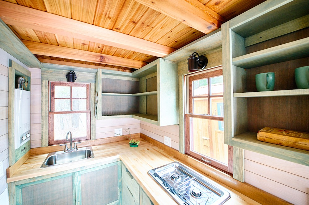 Kitchen - Cooktop and Sink - Weller by Wishbone Tiny Homes
