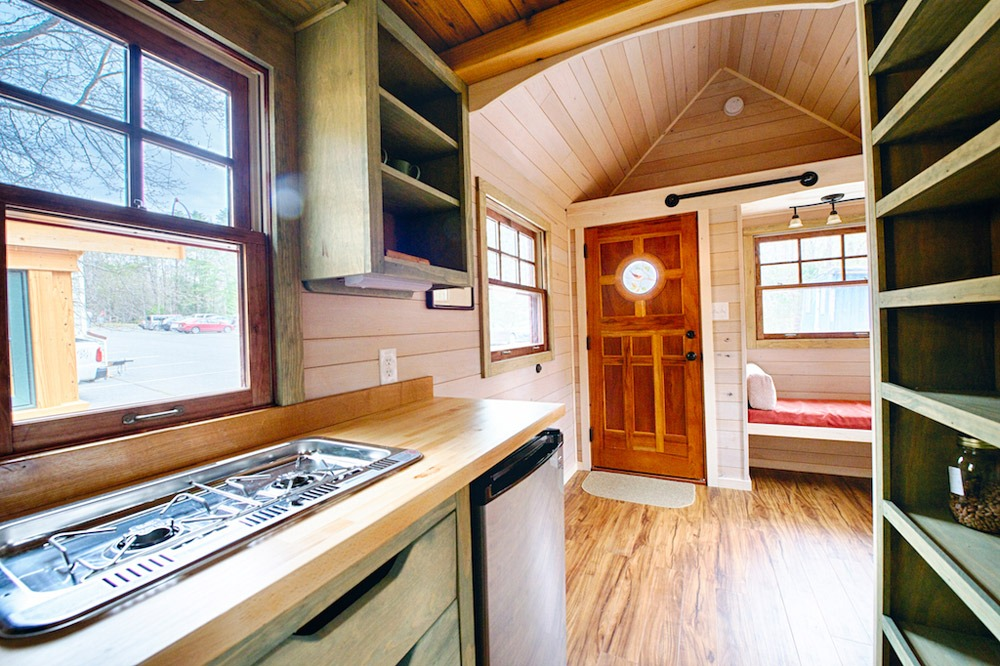 Kitchen and Living Room - Cooktop and Sink - Weller by Wishbone Tiny Homes