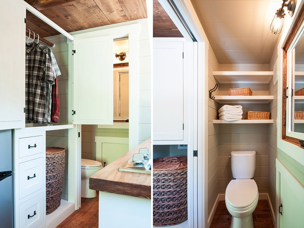 Closet and Bathroom - Ynez by Timbercraft Tiny Homes