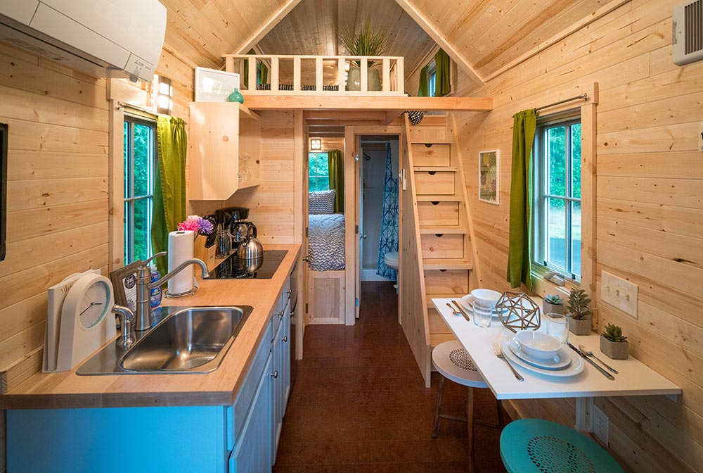 Interior view of Zoe at Mt. Hood Tiny House Village