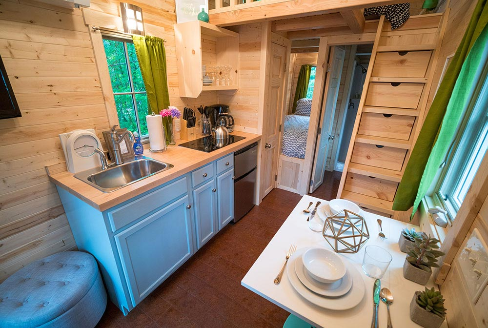 Kitchen and dining area - Zoe at Mt. Hood Tiny House Village