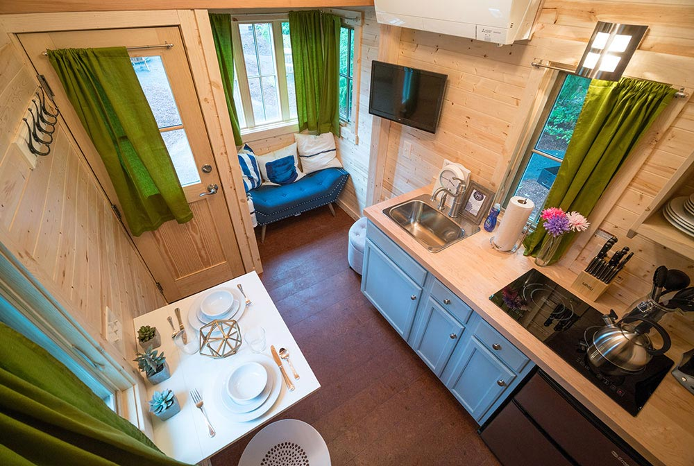 Aerial view - Zoe at Mt. Hood Tiny House Village