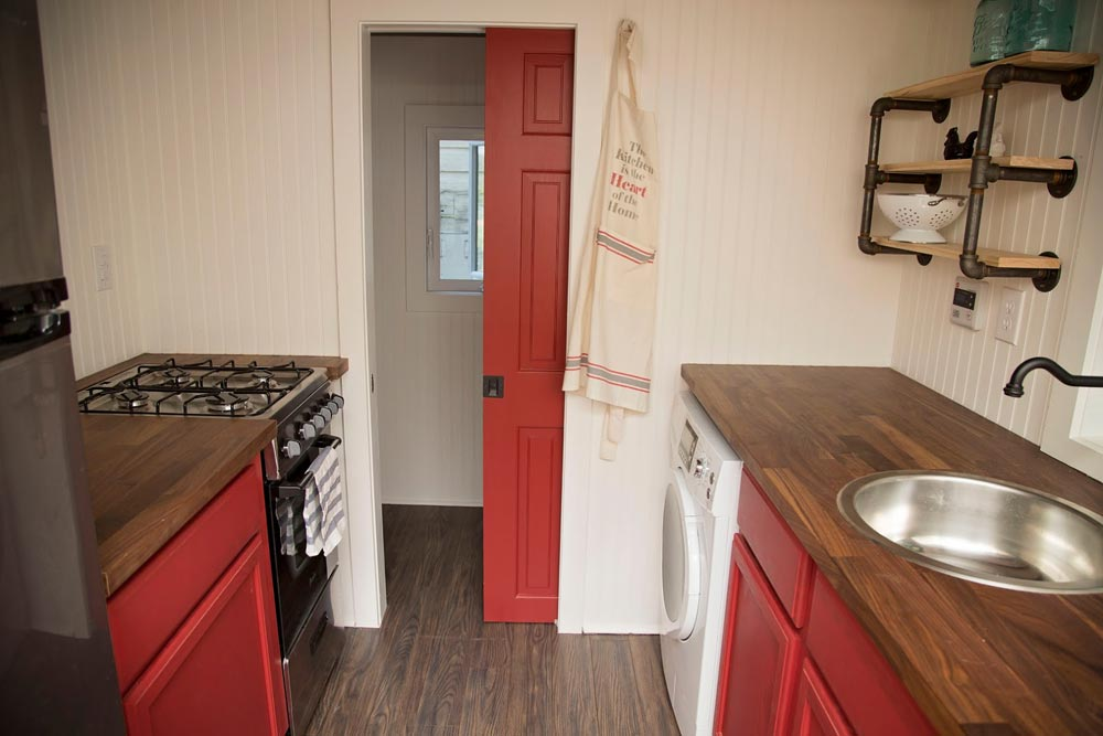 Kitchen leading into bathroom - American Pie by Perch & Nest