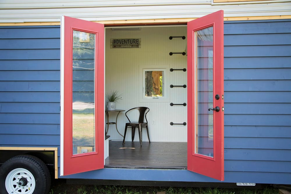 Red french doors - American Pie by Perch & Nest