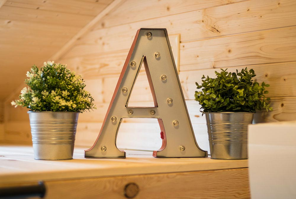 Decoration Details - Atticus at Mt. Hood Tiny House Village