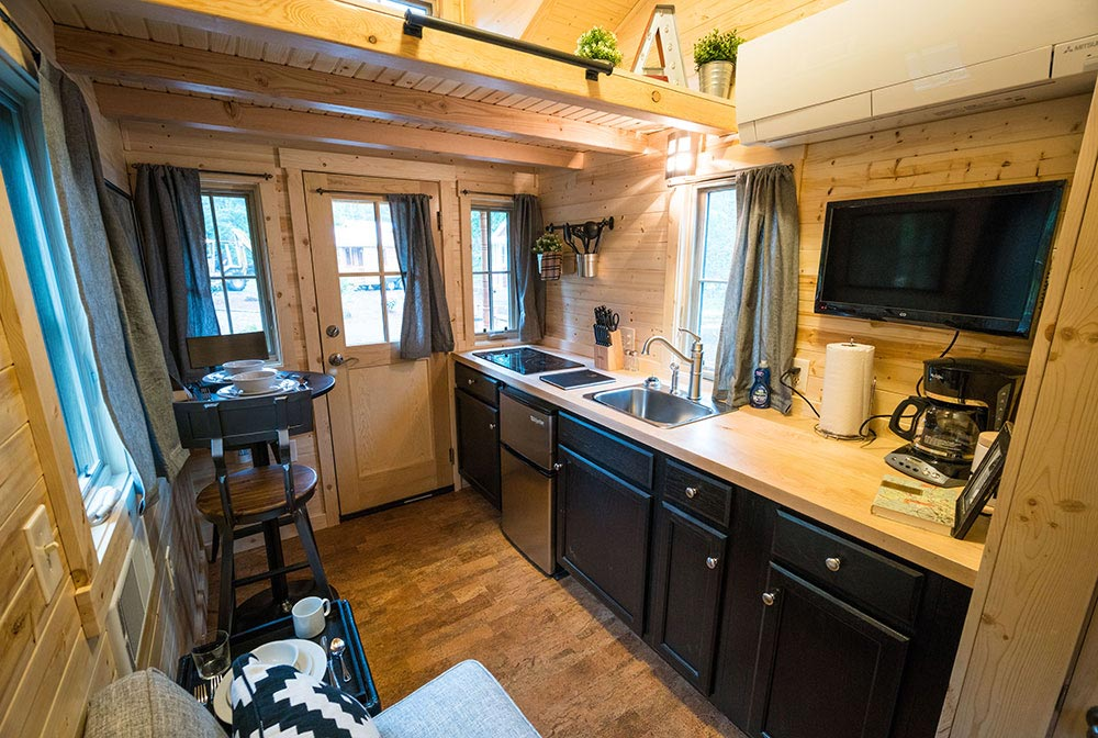 Kitchen and Dining Area - Atticus at Mt. Hood Tiny House Village