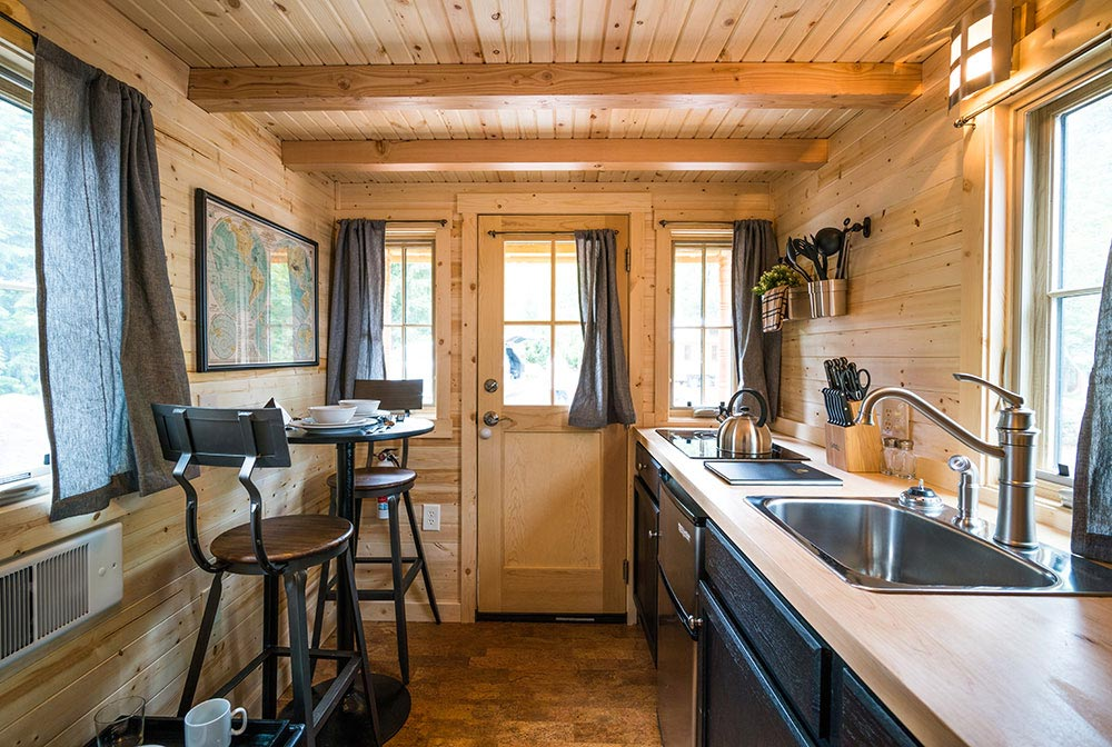 Kitchen and Entryway - Atticus at Mt. Hood Tiny House Village