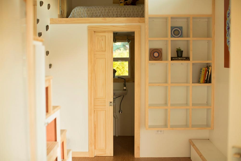 Pocket door to bathroom - Boho House by Perch & Nest