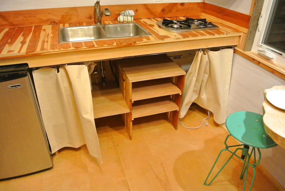Kitchen storage - Boulder by Rocky Mountain Tiny Houses