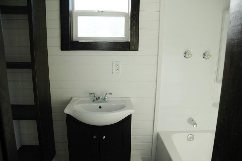 Bathroom with full tub - Carpathian by Tiny Idahomes