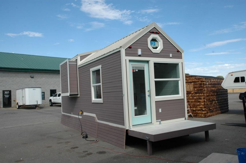 Tiny house with slide out and fold up porch - Clear Creek by Tiny Idahomes