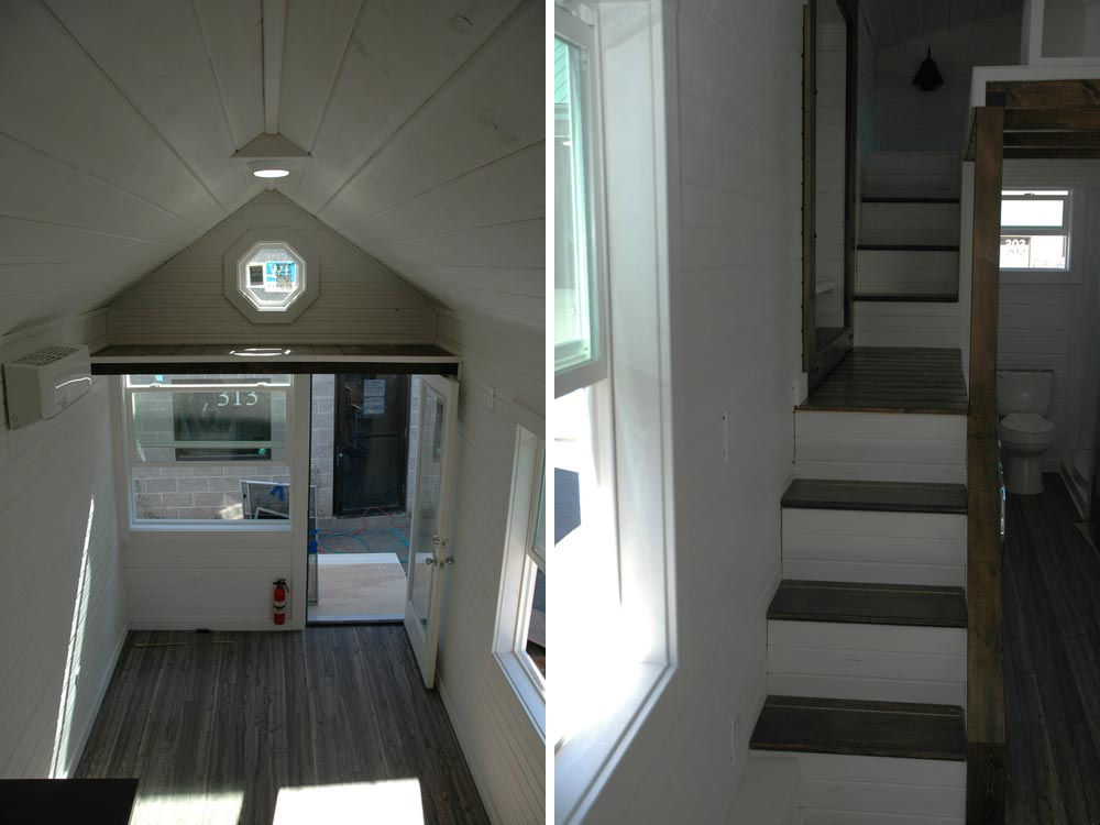 Aerial view and stairs - Clear Creek by Tiny Idahomes