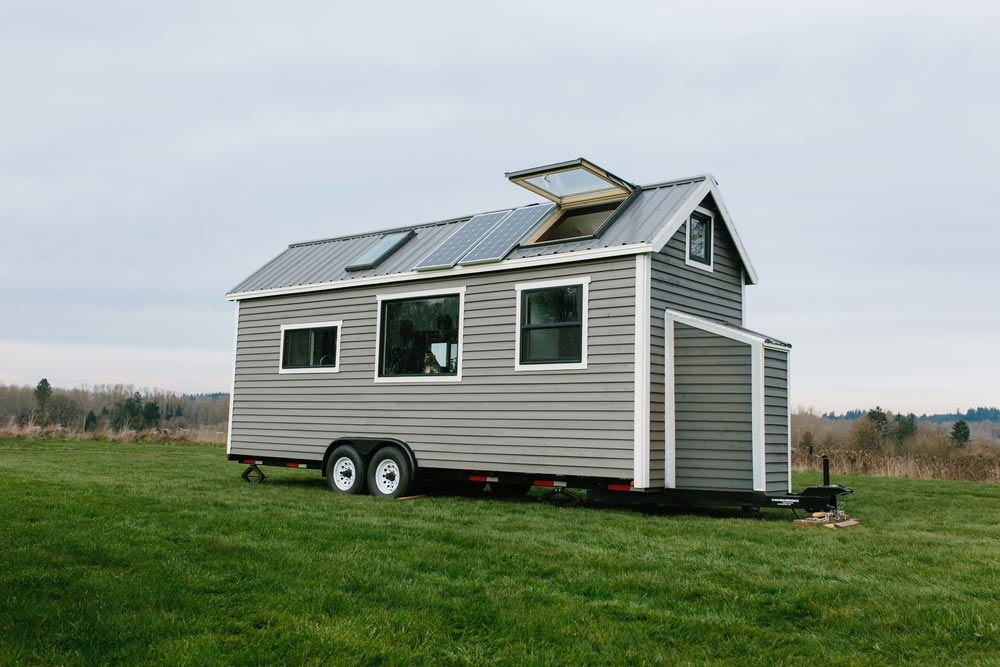 Tiny house with solar panels and skylights - Emerald by Tiny Heirloom