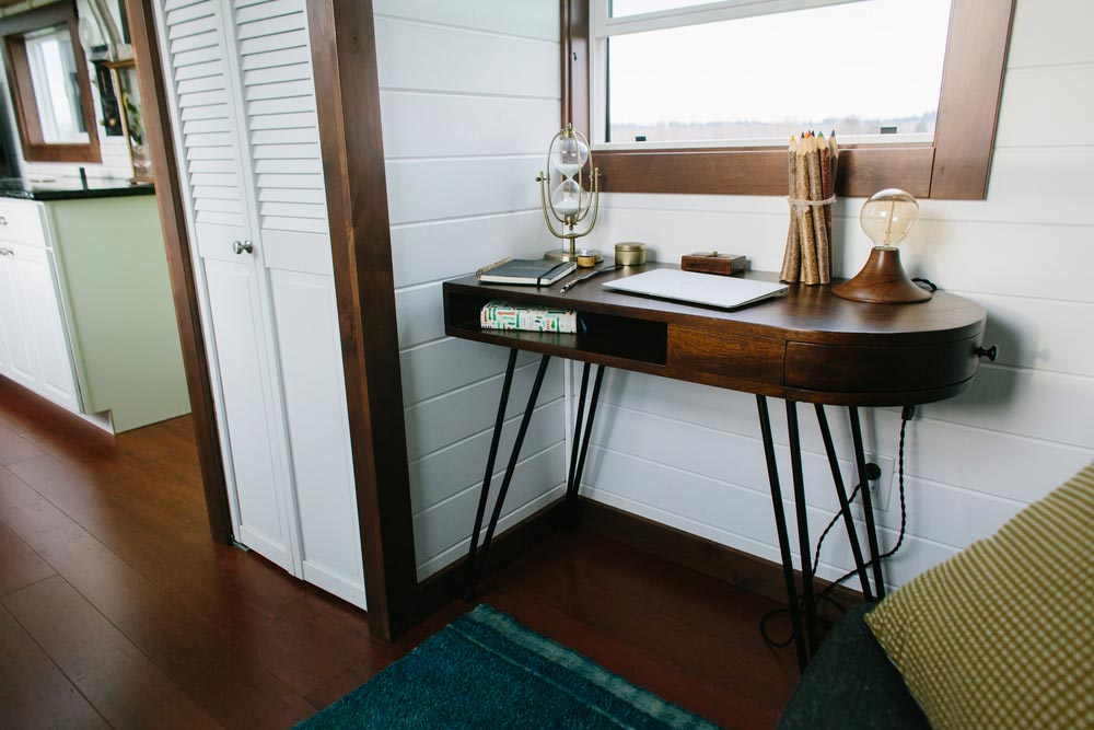 Desk in front of window - Emerald by Tiny Heirloom