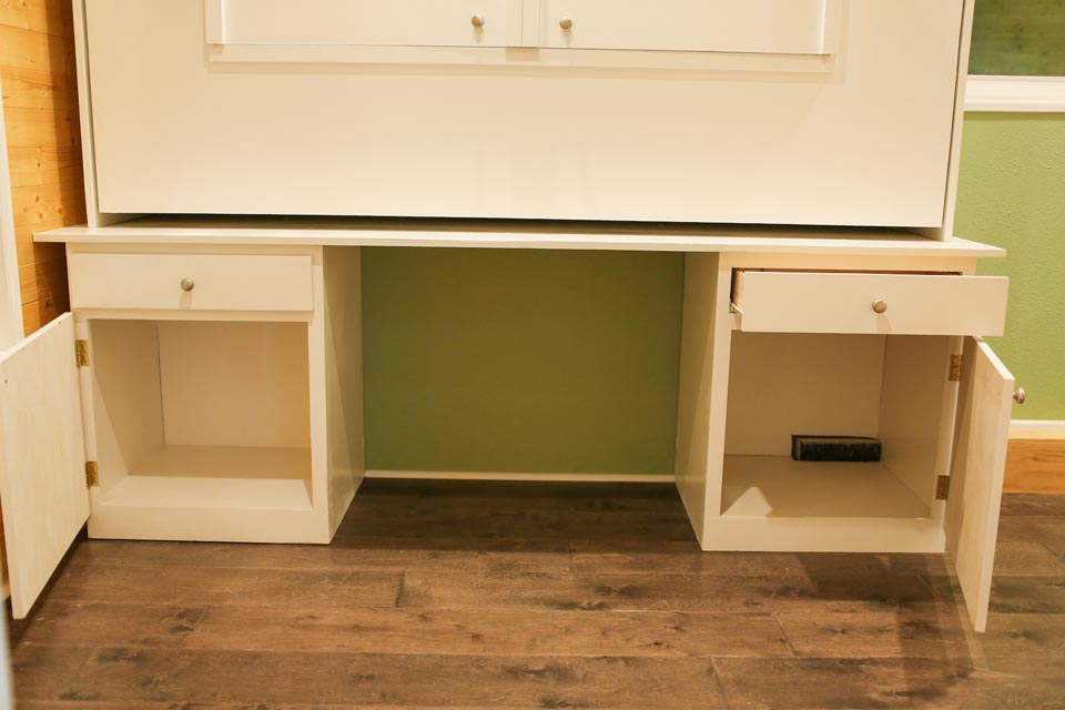 Storage under murphy bed - Fontana by Cornerstone Tiny Homes