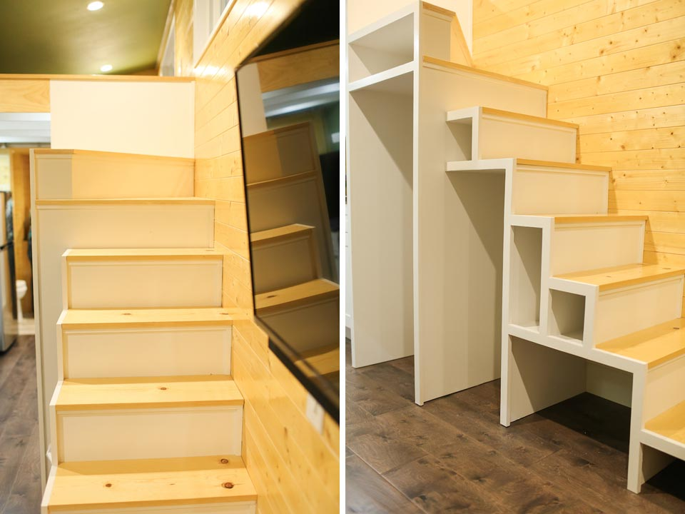 Storage stairs - Fontana by Cornerstone Tiny Homes