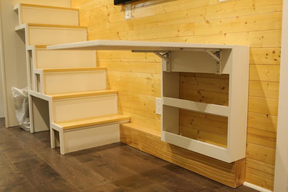 Fold out table with storage - Fontana by Cornerstone Tiny Homes