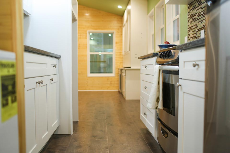 Kitchen and living room - Fontana by Cornerstone Tiny Homes