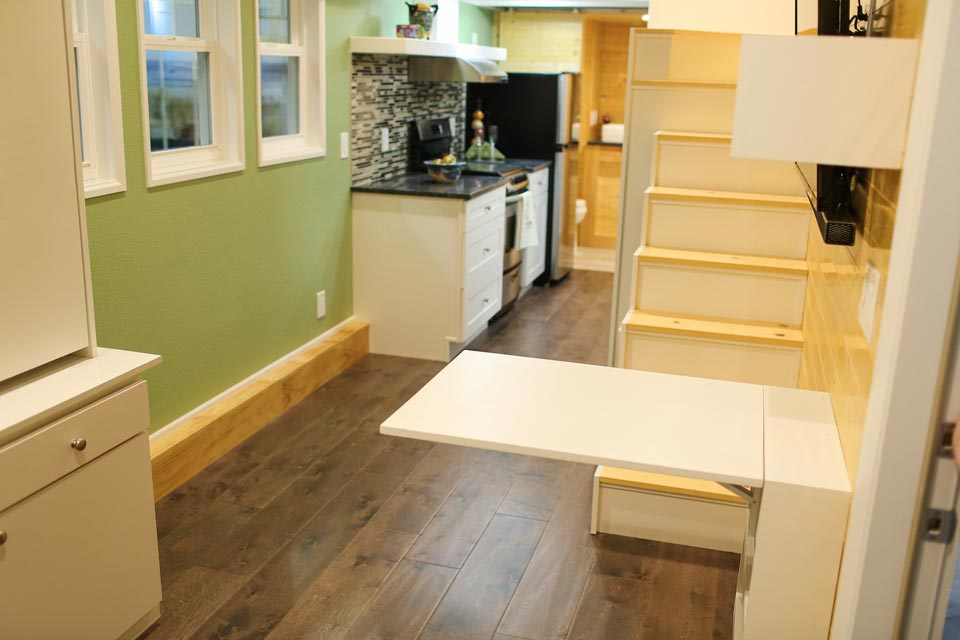 Fold out dining table - Fontana by Cornerstone Tiny Homes