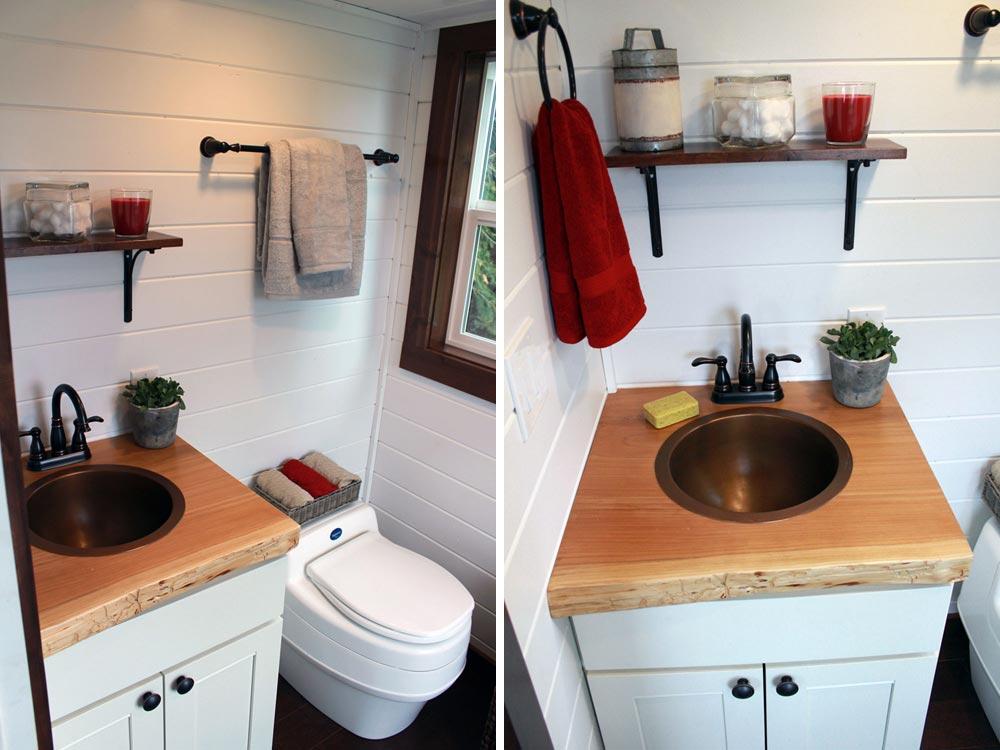 Tiny house bathroom - Family of Four by Tiny Heirloom
