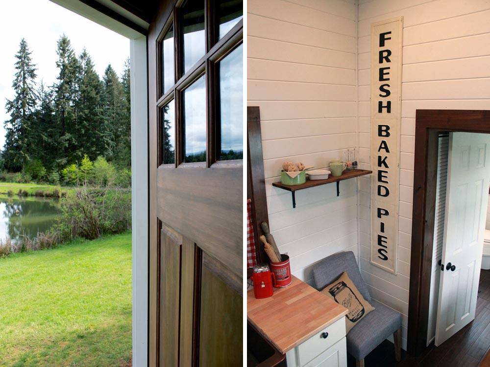 Front door and retro interior - Family of Four by Tiny Heirloom