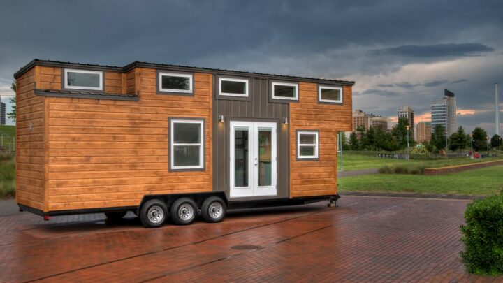Pine and metal exterior - Freedom by Alabama Tiny Homes