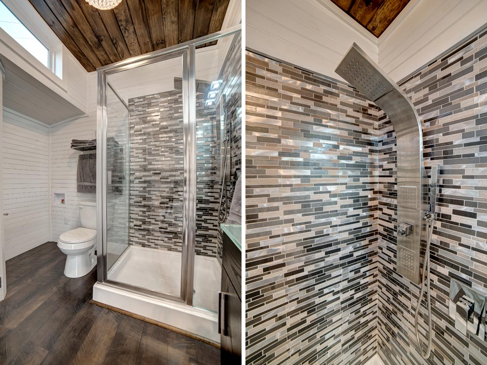 Tile Shower - Freedom by Alabama Tiny Homes