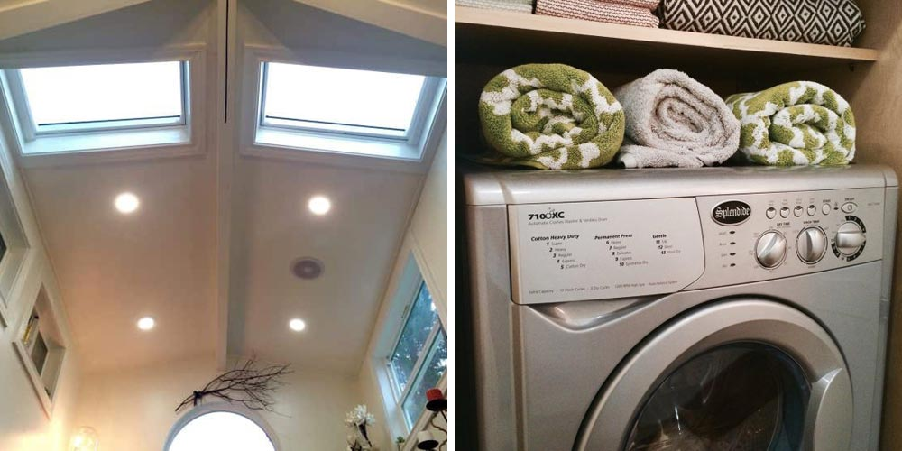 Skylights and washer/dryer - Vintage Glam by Tiny Heirloom