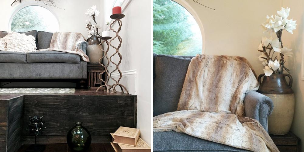 Living room detail - Vintage Glam by Tiny Heirloom