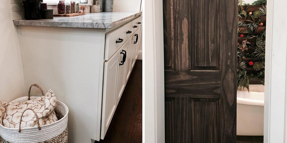 Bathroom sink and pocket door - Vintage Glam by Tiny Heirloom