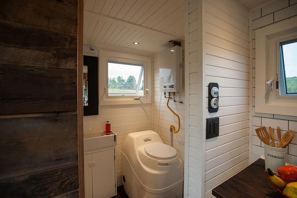Sun-Mar Excel Composting Toilet - Greenmoxie Tiny House