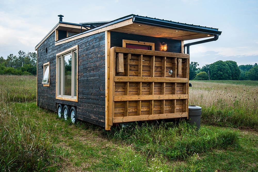 Deck Folded Up - Greenmoxie Tiny House