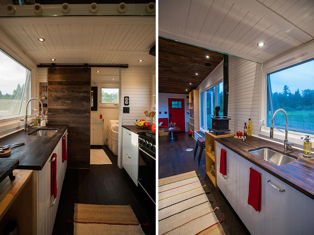 Custom Kitchen Cabinets and Counters - Greenmoxie Tiny House