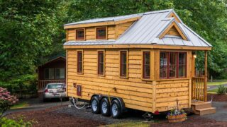 Tiny house based on Cypress design by Tumbleweed - Lincoln at Mt. Hood Tiny House Village