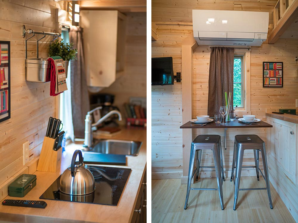 Kitchen and dining area - Lincoln at Mt. Hood Tiny House Village