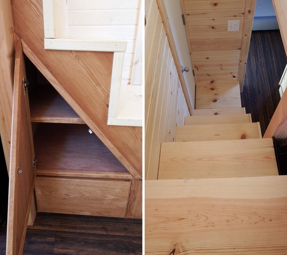 Storage stairs - Murphy by Tiny Idahomes