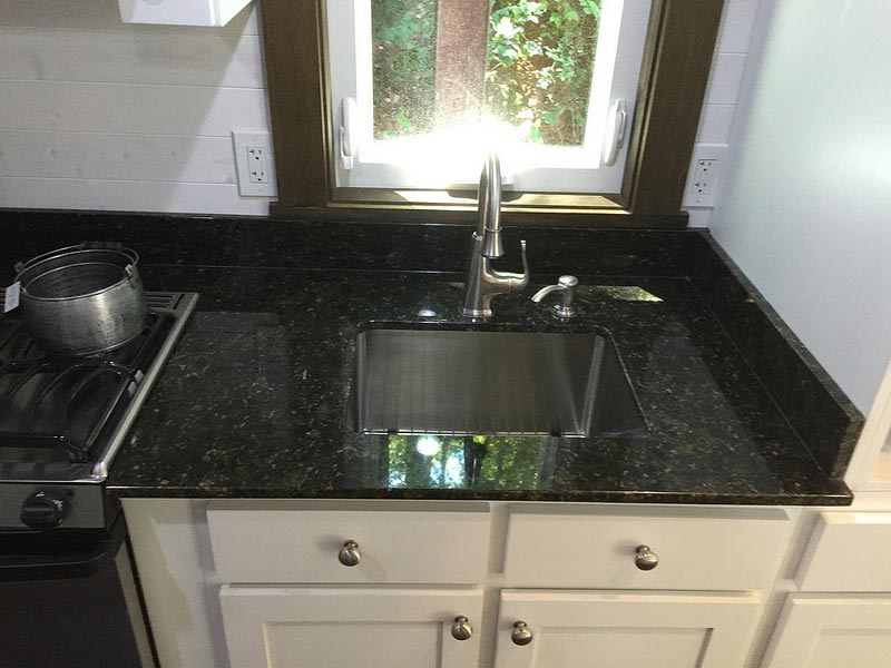 Kitchen sink and granite countertops - Nooga Blue Sky by Tiny House Chattanooga