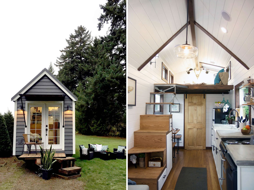 Exterior and interior views - Northwest Haven by Tiny Heirloom