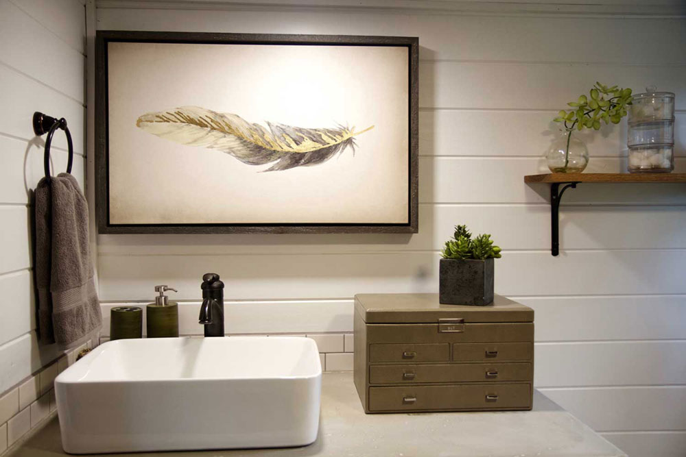 Bathroom sink and decor - Northwest Haven by Tiny Heirloom
