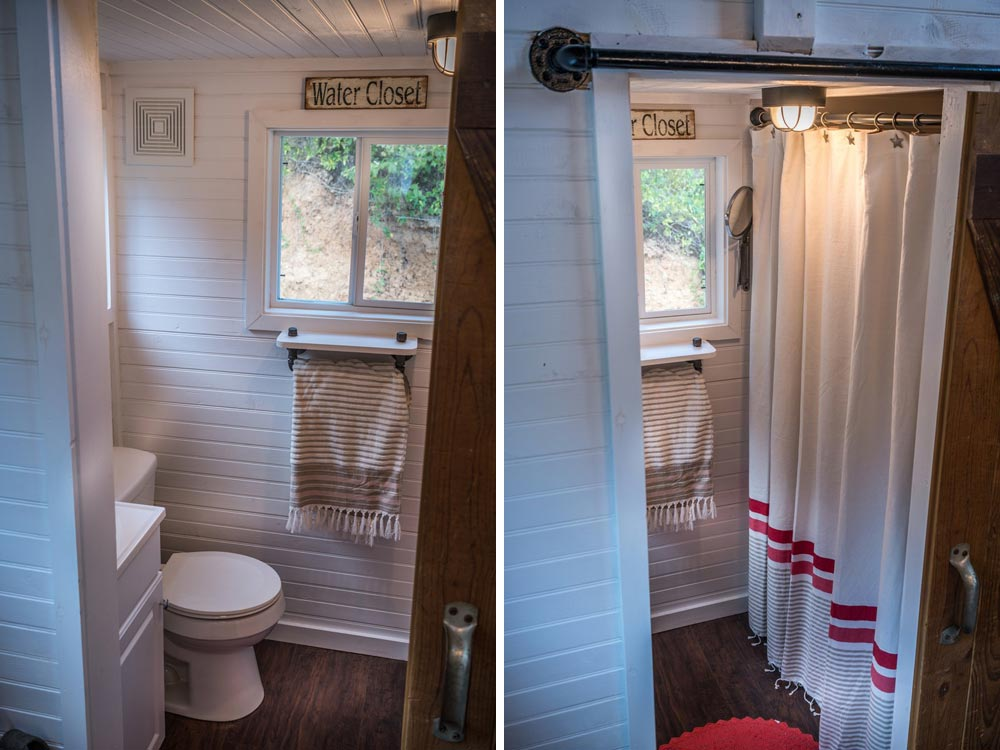 Tiny house bathroom - Old Blue Chair at Live A Little Chatt