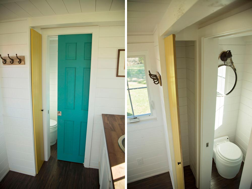 Pocket door to bathroom - Pecan by Perch & Nest