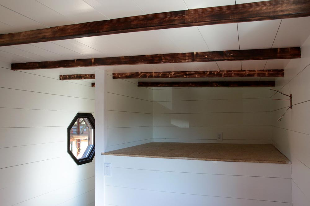 Exposed charred rafters - Wind River Tiny Homes