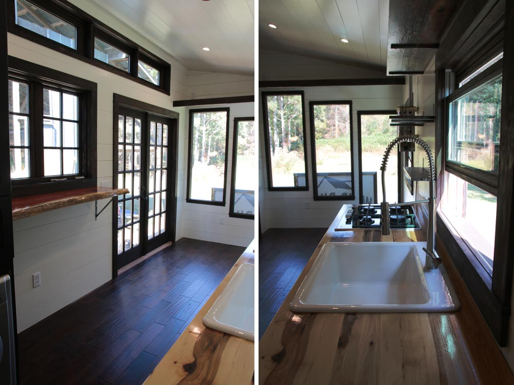 Living room and kitchen - Wind River Tiny Homes
