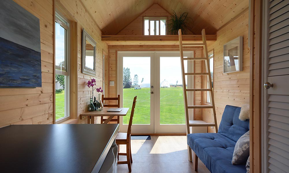Living room and kitchen - Poco Edition by Mint Tiny Homes