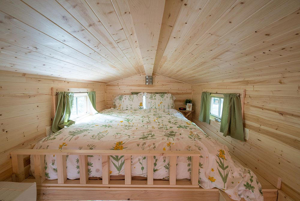 Bedroom loft - Lincoln at Mt. Hood Tiny House Village