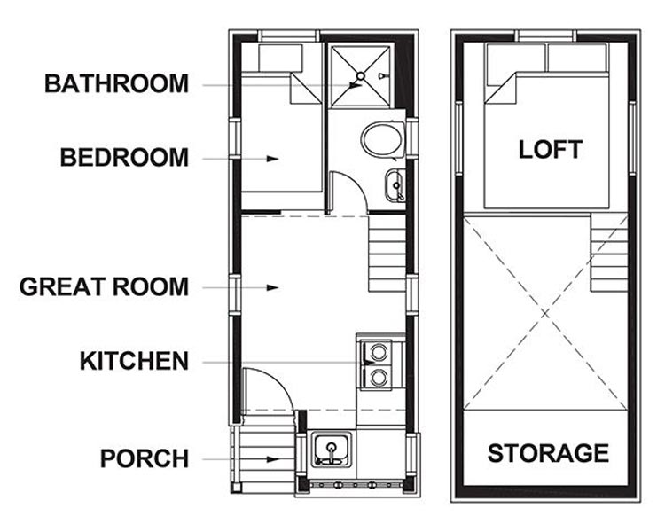 Floor plans - Lincoln at Mt. Hood Tiny House Village
