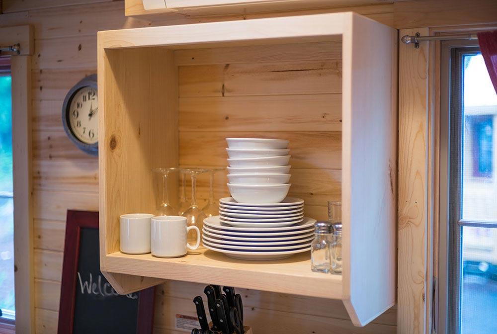 Kitchen storage - Scarlett at Mt. Hood Tiny House Village