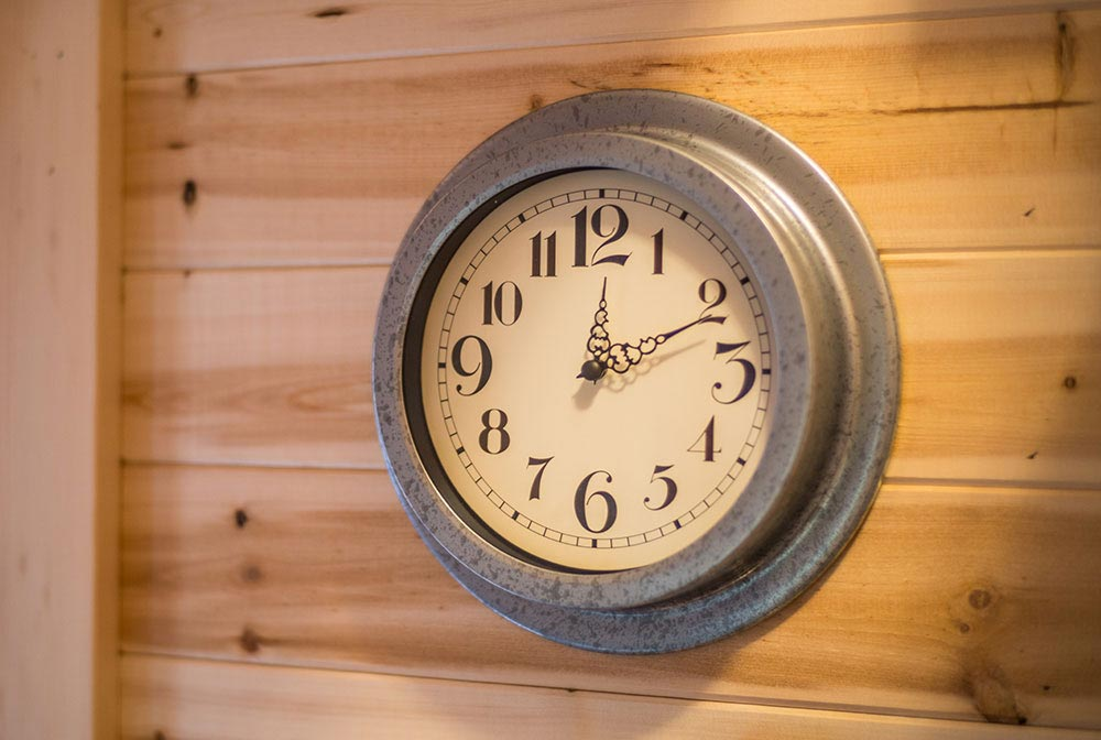 Clock - Scarlett at Mt. Hood Tiny House Village