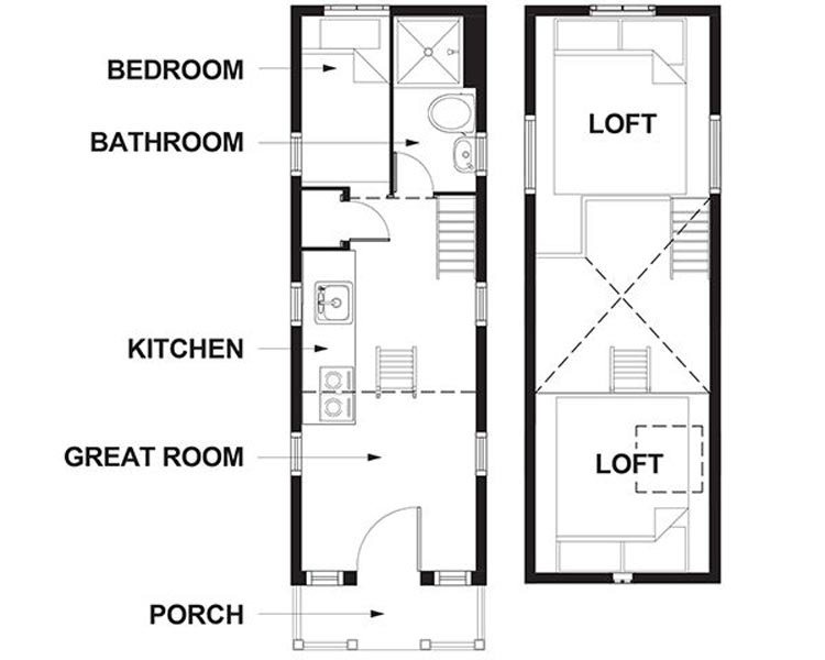 Floor Plans - Scarlett at Mt. Hood Tiny House Village